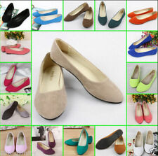 New Womens Lady Boat Shoe Casual Flat Ballet Slip On Flats Loafers Single Shoes