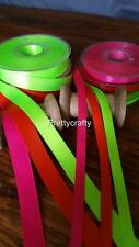 SATIN DOUBLE SIDED RIBBON 10mm 25mm Small Craft Ribbon 20 Metres Bright Colours