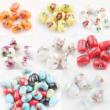 5/10/20Pcs Flower  Ceramic Porcelain Loose Spacer Beads Finding Jewelry New