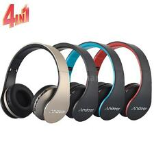 4 in 1 Foldable Wireless/Wired Stereo Bass Bluetooth Headphone Headset MP3 FM TF