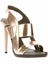Reed Krakoff Women´s 23-694 Fighter Sandal Rose Gold Patent Leather Sandal