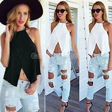 Fashion Women Sleeveless Halter Neck Tank Tops Vest Crop Casual Backless Blouse