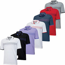 Adidas ClimaChill 3 Stripes Deboss Golf Polo Shirt 2015 Closeout Mens New