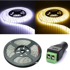 5M 5630 SMD 300 LED WATERPROOF STRISCIA FLESSIBILE BIANCO/CALDO+FEMALE CONNECTOR