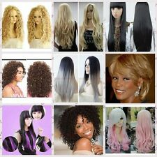 Sexy Women Fashion Anime Cosplay Dress Party Full Wigs Ladies Wigs+Cap