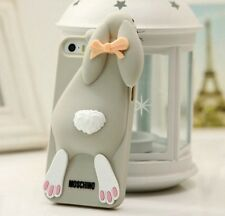 Cover silicone per Iphone 4 4S 5 5S 6 coniglio Moschino style rabbit soft case