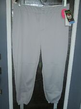 Wilson Softball Pants Womens Low Rise Grey ,M, XL, XXL Plus NEW FreshTech WilDri