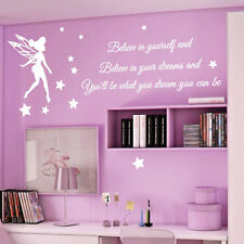 Tinkerbell Stars Children Nursery Wall Stickers Quotes Wall Decals Wall Arts bn