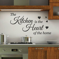 Kitchen is the Heart Wall Quotes Stickers Wall Decals Wall Arts decoration bn