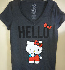 Hello Kitty Plus Size Gray ( Kitty Colorful Drawing on Front ) T-shirt