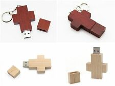 Wooden cross model USB 2.0 Memory Stick Flash pen Drive 4GB 8GB 16GB 32GB HP574
