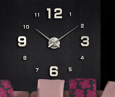 Living Room Home Interior Deco Large Wall Clock 3D Sticker Big Watch FOZ