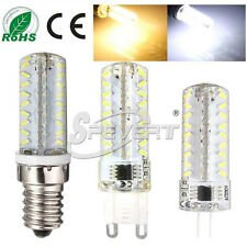 Dimmable G4 G9 E14 7W 3014 SMD 72 LED Bulb Lamp Light Silicone Cool Warm White