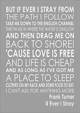 Frank Turner - If Ever I Stray Art Wall Typography Song Lyrics Lyric Verse