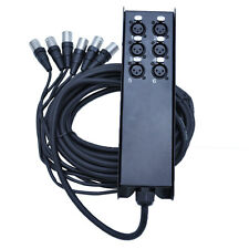 Small Footprint XLR Stage Box Snake - 6, 8, 12, 16, 24, 32 Channel - 25' to 100'
