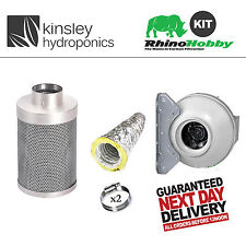 Rhino Hobby Filter RVK Fan 5m Acoustic Sono Ducting Clips Kit Carbon Hydroponics