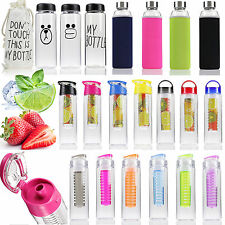 5Types Sport Fruit Infusing Infuser Water Lemon Juice Health Bottle Flip Lid Cup
