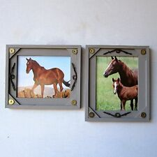 TWO 8x10 Rustic Western Shotgun Shell Barb Wire Wood Picture Frames