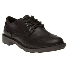 New Womens Rocket Dog Black Harry Derby Synthetic Shoes Brogue Lace Up