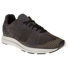 New Mens Puma Black Haast Suede Trainers Retro Lace Up