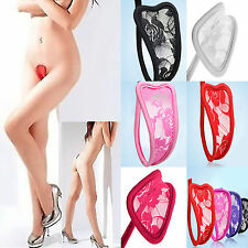 Women Sexy Lace C-String  Thong Invisible Underwear Panties G-string Knickers