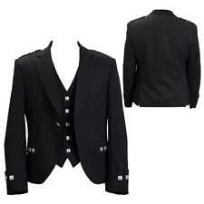 "UK STOCK SCOTTISH ARGYLE JACKET & VEST KILT JACKET PARTY JACKET- SIZES 36""-54"""