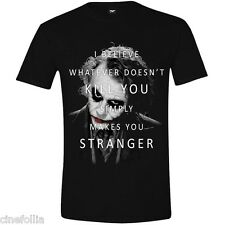 T-shirt Batman The Dark Knight Joker Text maglia Uomo ufficiale Timecity