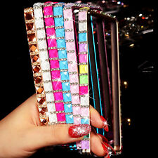 HOT 3D Bling Crystal Metal Bumper Frame Case for Samsung Galaxy S4 S5 Note 2 3 4