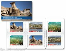 ERROR Canada Post 2015 UNESCO World Heritage sites, Booklet of 6 stamps FREE S/H