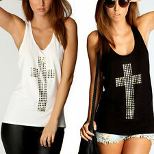 Fashion Womens Lovely Summer Vest Top Sleeveless Blouse Casual Tank Tops T-Shirt