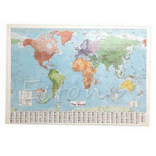 Wall MAP OF THE WORLD Chart Political Flags Home Art Decor Gift World Map Poster