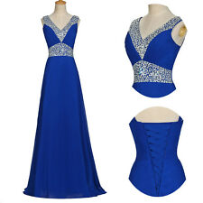 BEADED Evening Formal Party Queen Pageant Gown Prom Bridesmaid Dresses PLUS SIZE