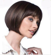 Bob Hairstyle Fashion Synthetic Hair Wig Straight Sexy Women Lady Short Wigs+Cap