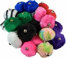 Roller Skate Pom Poms with Bell All Colors Sold As A Pair