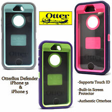 AUTHENTIC OtterBox Defender Series Case For iPhone 5S 5 S Blue Green Pink