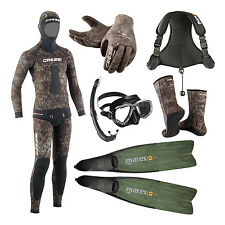 Cressi Package Apnea Pesca Sub Tracina 7mm Spearfishing Freedive 02UK