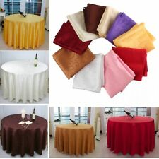 40'' Round Table Cover Tablecloth Pattern Wedding Banquet Party Polyester Linen