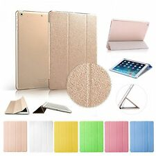 PU Leather Cover With Hard Back Case Smart Wake For iPad 2 3 4 5 air2 mini +Gift