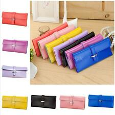Classic Women Purse Soft PU Leather Wallet Card Holder Ladies Long Clutch Bag