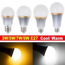 Dimmable Energy Saving  E27 3W 5W 7W 9W LED Lamp Bulb Light Cool / Warm White