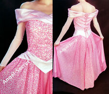 AP340 COSPLAY Dress Princess sleeping beauty pink Costume Aurora adult park