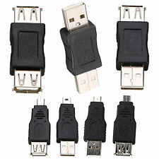 OTG USB Male To Female Micro Mini 5Pin Converter Adapter Connector Extender Plug