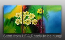 Large Framed Abstract Modern Original Oil Painting Floral Art Contemporary
