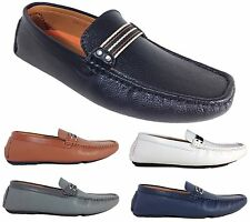 Men Brixton New Leather Driving Casual Shoes Moccasins Slip On Loafers Tobago