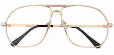 Men's Women's Retro Frame Clear Lens Aviator Driving Designer Glasses Eyewear