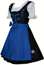 DIRNDL Trachten German DRESS Oktoberfest 3-Pc SHORT BLACK Swing Party Waitress