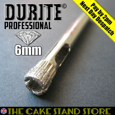 6mm Diamond Core Drill Bit - Cake Stands / China, Ceramic, Porcelain  Plates