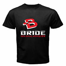Bride Holding Monster JDM Racing logo Black T Shirt Size S M L XL 2XL 3XL Av