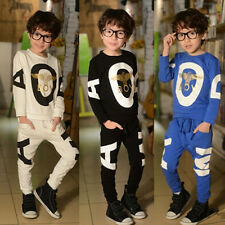 Kids Toddler Baby Boys Sportswear Coat Sets Hoody+Pants Outfits Clothes 2-7Years