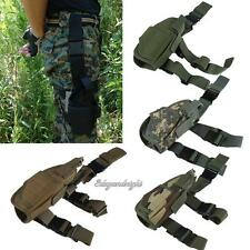 Adjustable Tactical Pistol Gun Drop Leg Thigh Holster Pouch Holder Right Hand